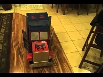 Awesome DIY Optimus Prime Costume - Transforms!
