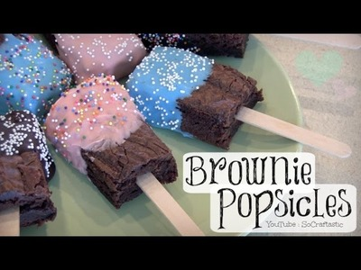 BROWNIE POPSICLES How To - Brownie Pops. Popsicle Brownies on a stick : : Baking DIY