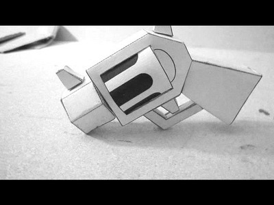 Cool Papercraft Revolver!