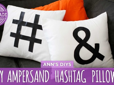 DIY Ampersand & Hashtag Pillows - HGTV Handmade