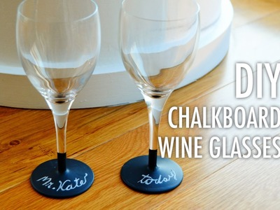 DIY Chalkboard Wine Glasses with Mr. Kate: Ultimate Holiday Giving Guide