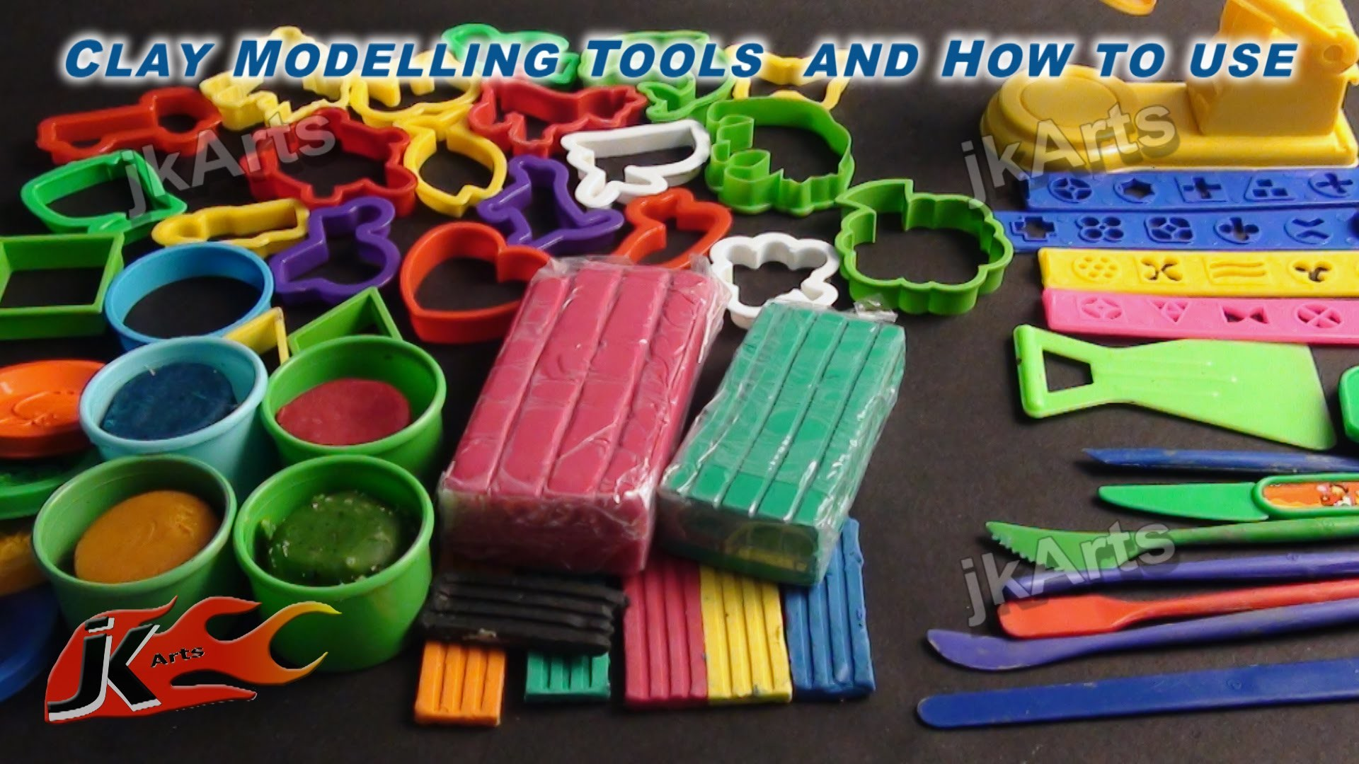 DIY Clay Modelling Tools for Kids and How to use -  JK Arts 347