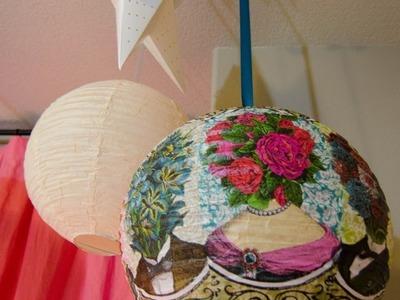DIY: Decoupage Garden Lanterns