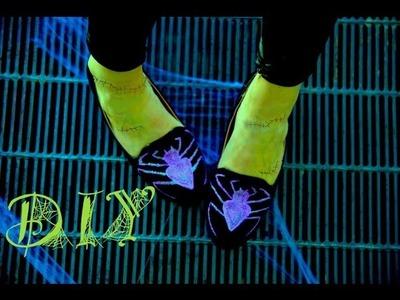 DIY Fashion | Halloween Spider Loafers | Designer DIY