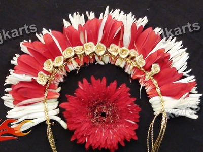 DIY Gajra. Veni. Flower Garland for Indian Wedding - JK Arts 185