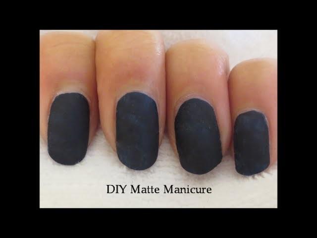DIY Matte Mani (Without Matte Nail Polish!)