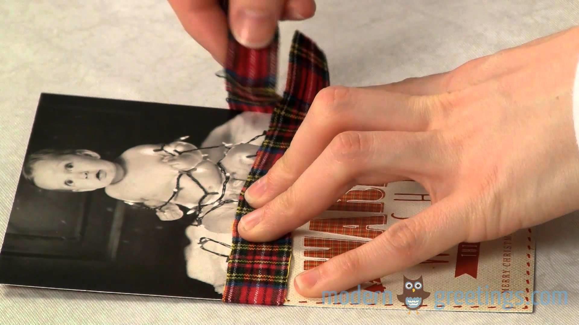DIY Mini-Scarf Christmas Card Tutorial