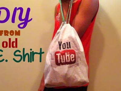 DIY No-Sew Drawstring Bag (Back to School) -HowToByJordan