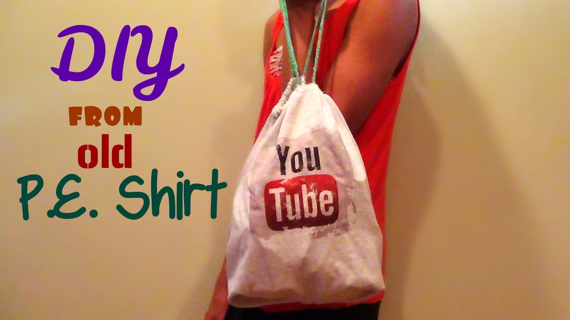 DIY No-Sew Drawstring Bag (Back to School) -HowToByJordan