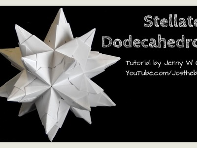 DIY Origami Ball - Christmas Star Ball - Ornament Stellated Icosahedron - Modular Origami