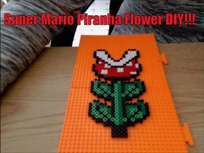 DIY: Super Mario Piranha Flower made with Perler Beads!!!
