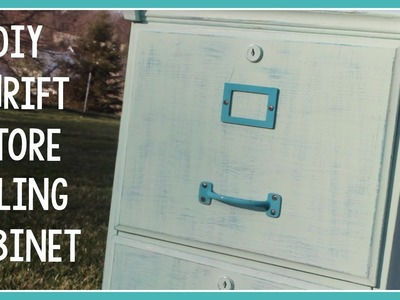 DIY THRIFT STORE FILING CABINET | Teen Room Decor | Summer Crafts