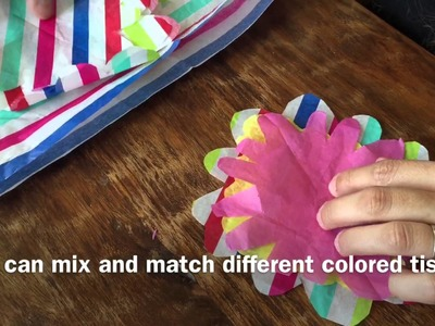 DIY Tutorial - Tissue Paper Flower to Decorate a Pen