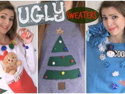 DIY Ugly Christmas Sweaters. Easy & Affordable!