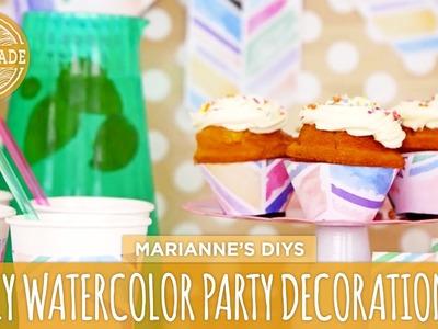 DIY Watercolor Party Decorations - HGTV Handmade