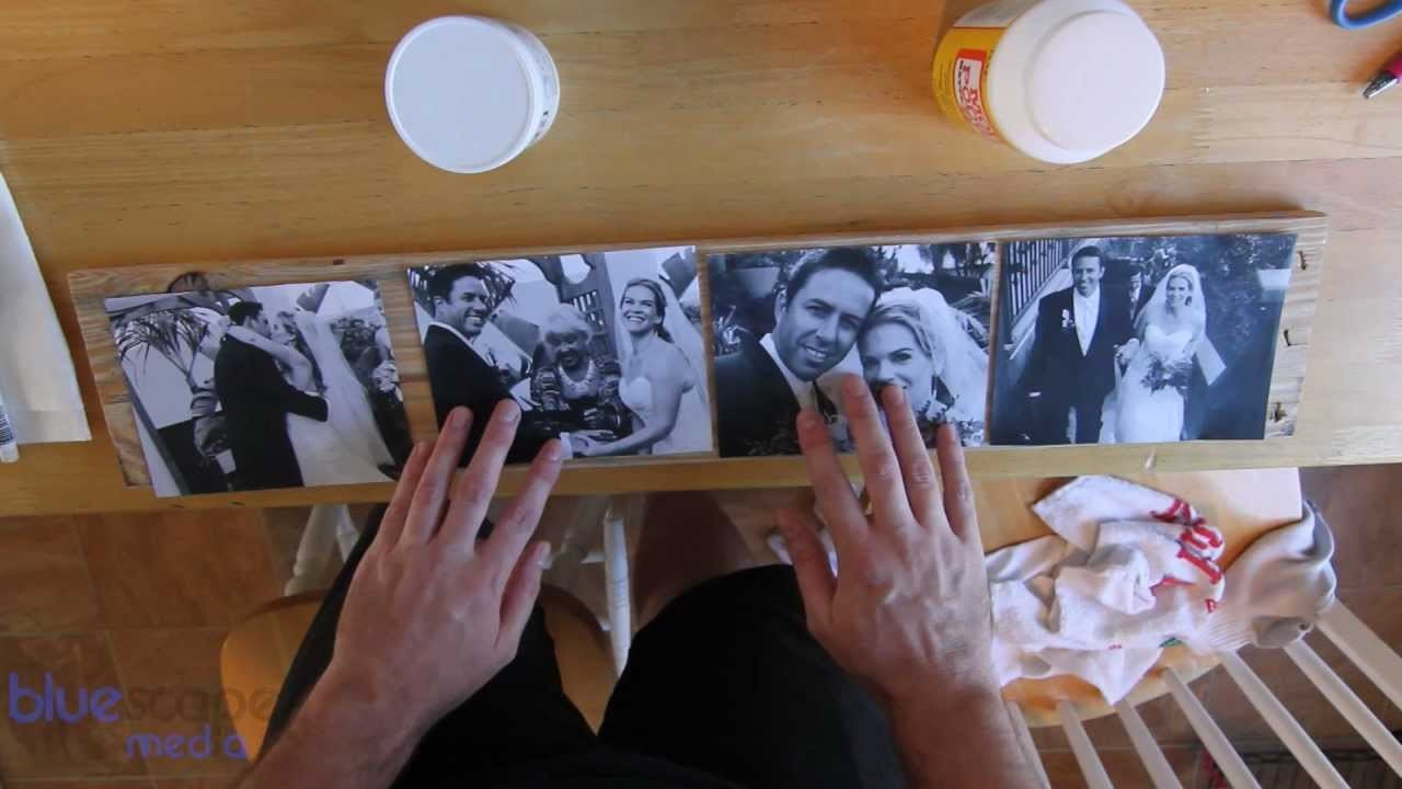 DIY Wood Photo Transfers