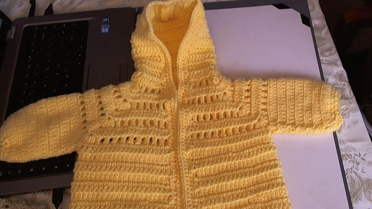 Easy to Crochet Baby Hoodie Sweater - Video 2
