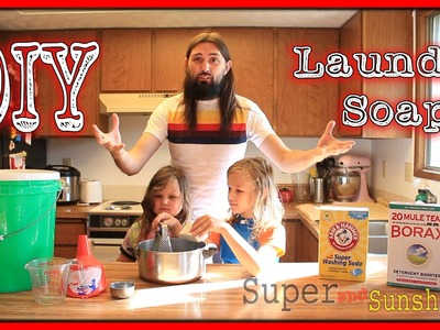 Homemade Liquid Laundry Soap, Less then 2¢ a Load,  A How to DIY Tutorial by Super and Sunshine