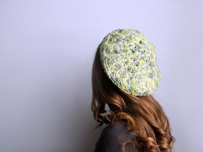 How to Crochet a Beret Left Handed