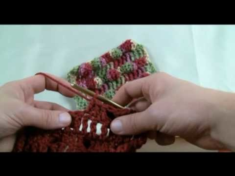 How To Crochet Black Berry Stitch - RH Part 2 of 2