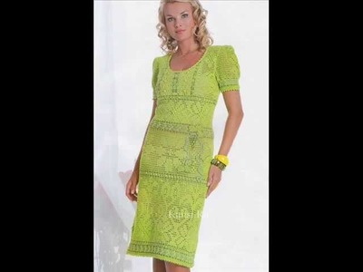 How to crochet fillet dress free pattern