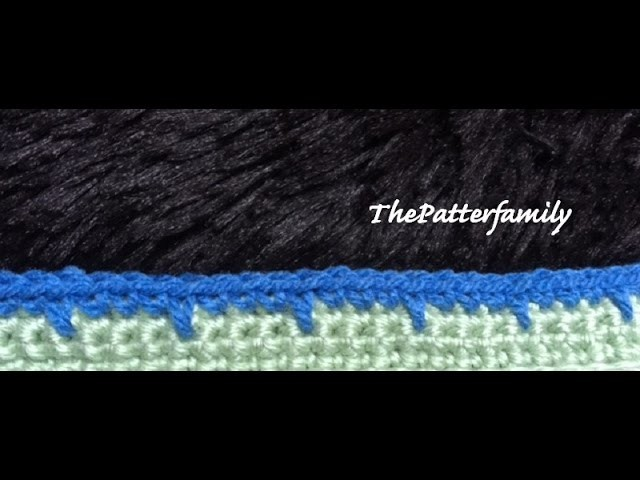 How to Crochet the Edge. Border. Trim Stitch Pattern #28  │ by ThePatterfamily