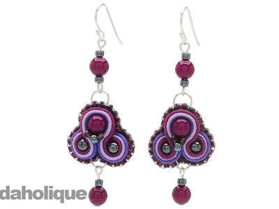 How to do Soutache Bead Embroidery: Part 7: How to Finish a Soutache Pair of Earrings