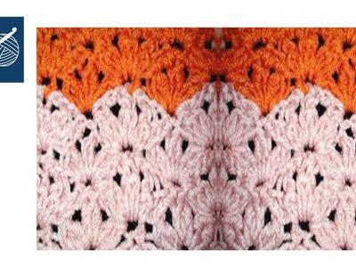How to make a Crochet Cluster Shell - Left Hand Crochet Geek