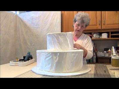 How to Make a Faux Wedding Cake Centerpiece: Part 1