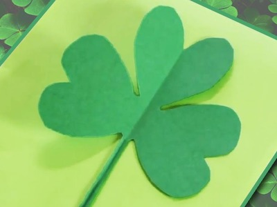 How to Make a Paper Shamrock.Clover
