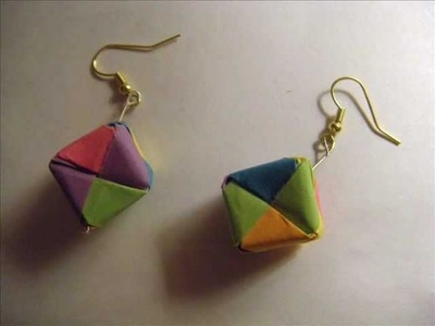 How to Make Origami Cube Earrings