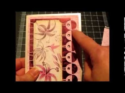 Hummingbird Card with Inverted Scallop Edge - Kanban Crafts