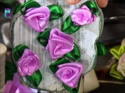 Learn to make roses for a decor of different materials - fabric, ribbons, paper. Diy. Handmade