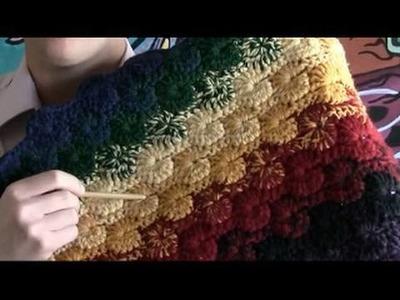 Left Hand: How To Crochet Catherine Wheel Stitch