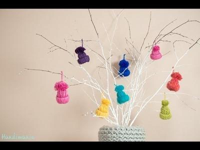 Little Yarn Hats Ornament Tutorial