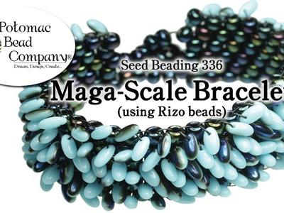 Maga-scale Bracelet (With Czech Rizo Beads)