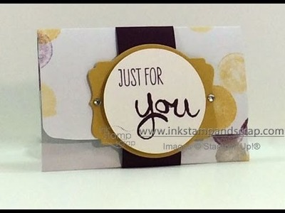 Make a DIY Gift Card Holder from Stampin Up Paper