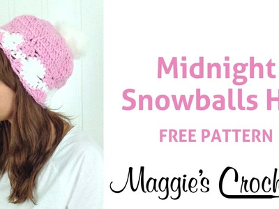 Midnight Snowball Hat Free Crochet Pattern - Right Handed