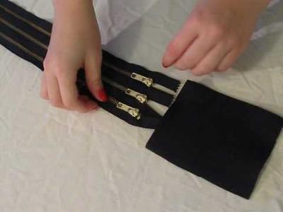 Missa by Design: DIY 10 (Zipper Belt) --Holiday Gift Idea!