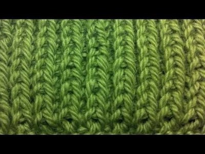 New Stitch A Day: How to Knit Left Handed - The Fisherman's Rib Stitch