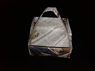 Newspaper Paper Basket - Paper Crafts