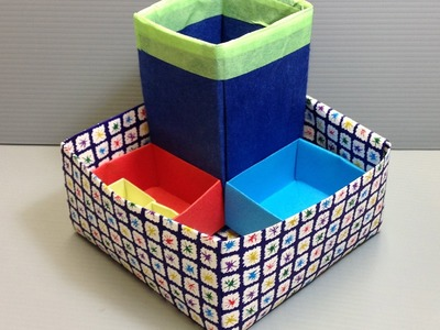 Origami Desk Organizer or Pencil Stand for Back to School