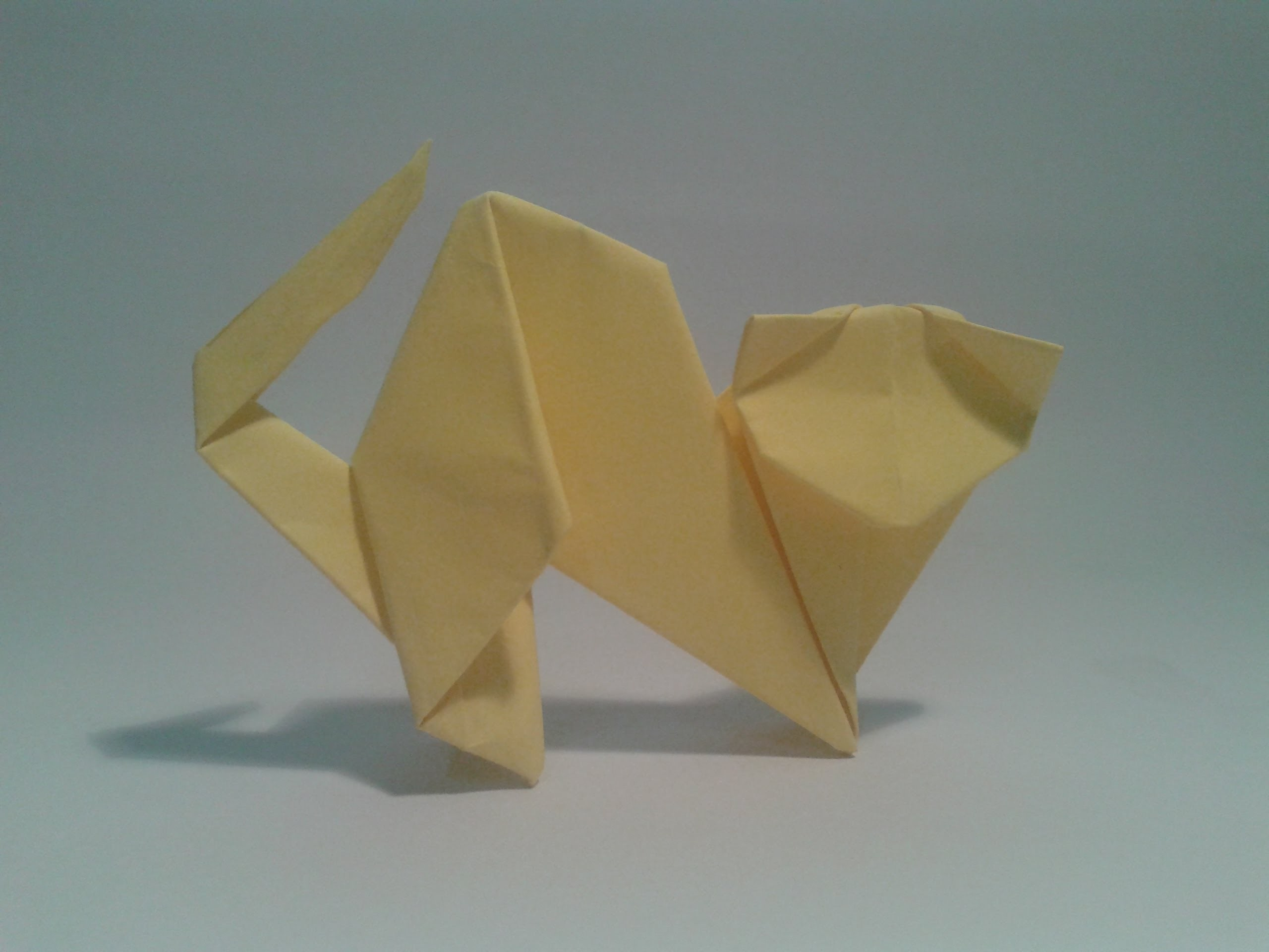 Origami - How to make an easy cat