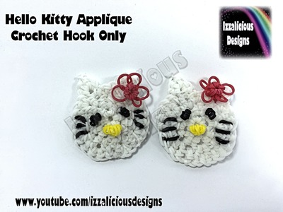 Rainbow Loom Hello Kitty Crochet Hook Only Applique - Loomless Amigurumi