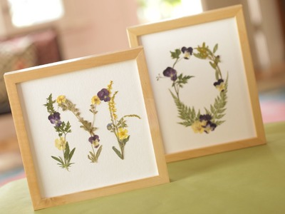 Robert's Pressed Flower Monograms (Mother's Day DIY)