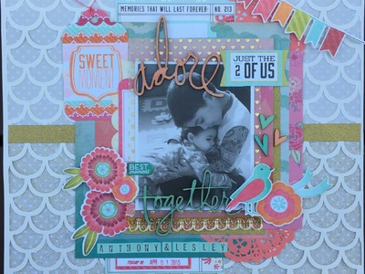 """Scrapbooking Process Video #21- """"Adore just the 2 of us together"""""""