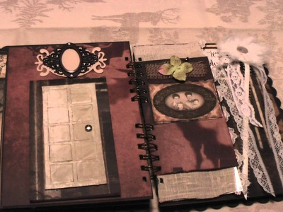 Scrapbooking: Tattered Time Vintage Shabby Chic Mini Album
