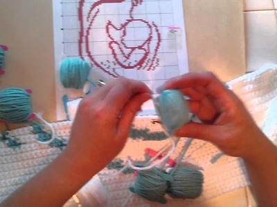 Single crochet intarsia graphghan work