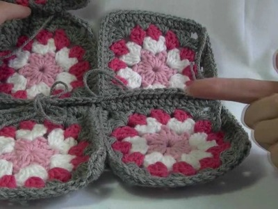 Single Crochet Join Granny Squares Together