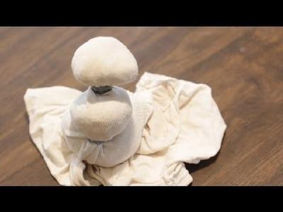 Sock & Toilet Paper Snowman : Paper Crafts